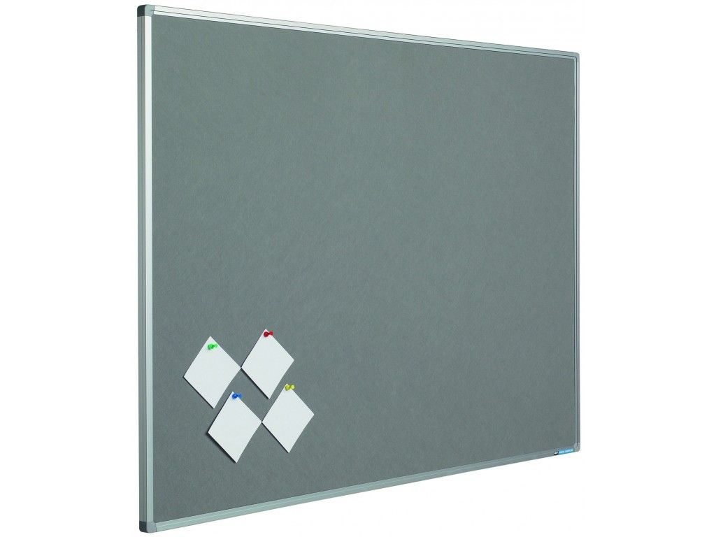 f54430ab77d Smit Visual Prikbord Softline Vilt Grijs 90x120 cm | DiscountOffice.nl
