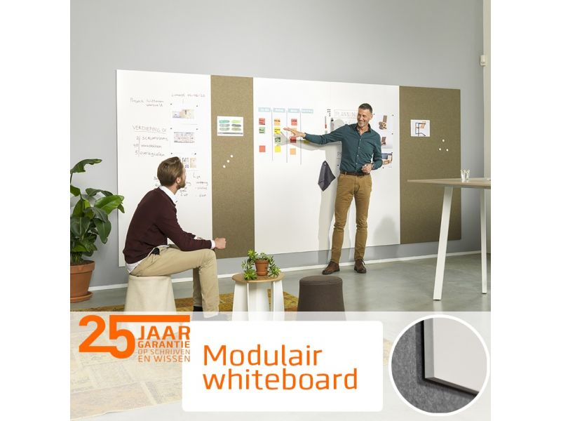 Modular Whiteboard 98x198cm Emaille