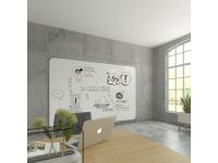 Whiteboardwand VisuWAll Emaille Staal 198x294cm