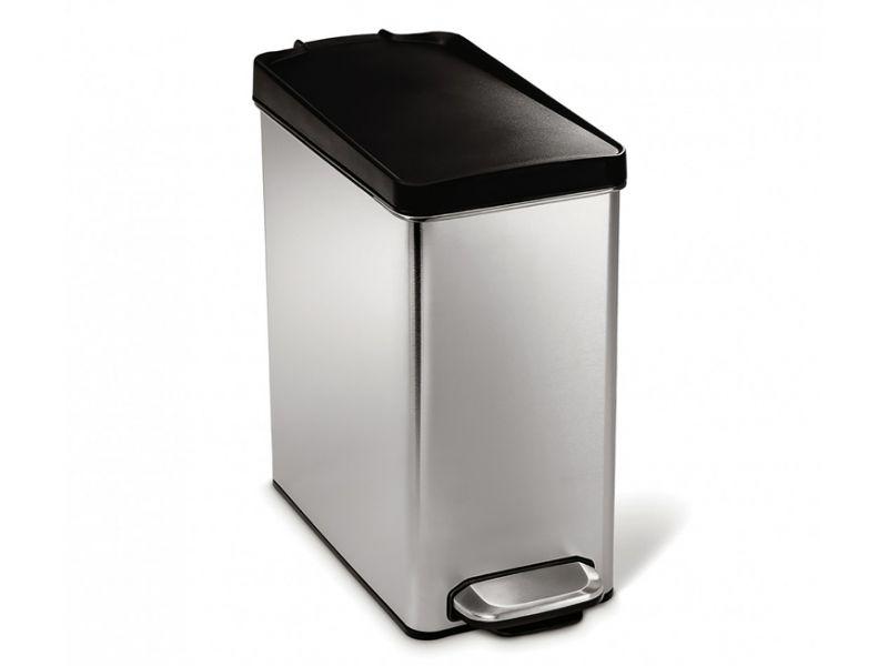 Rvs Pedaalemmer Badkamer : Simple human pedaalemmer profile liter zwart rvs simplehuman