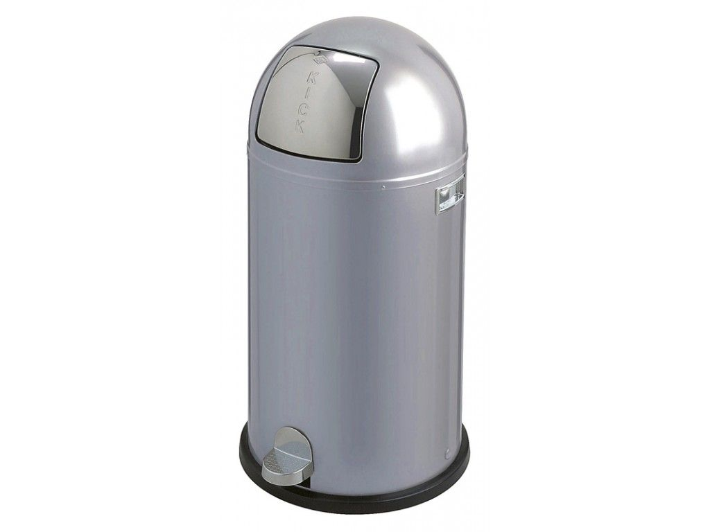 Wesco Kickboy Grijs.Pedaalemmer Wesco Kickboy 40 Liter Aluminiumgrijs
