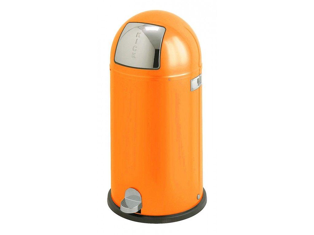 Pedaalemmer Wesco Kickboy.Vepa Bins Pedaalemmer Wesco Kickboy 40 Liter Oranje