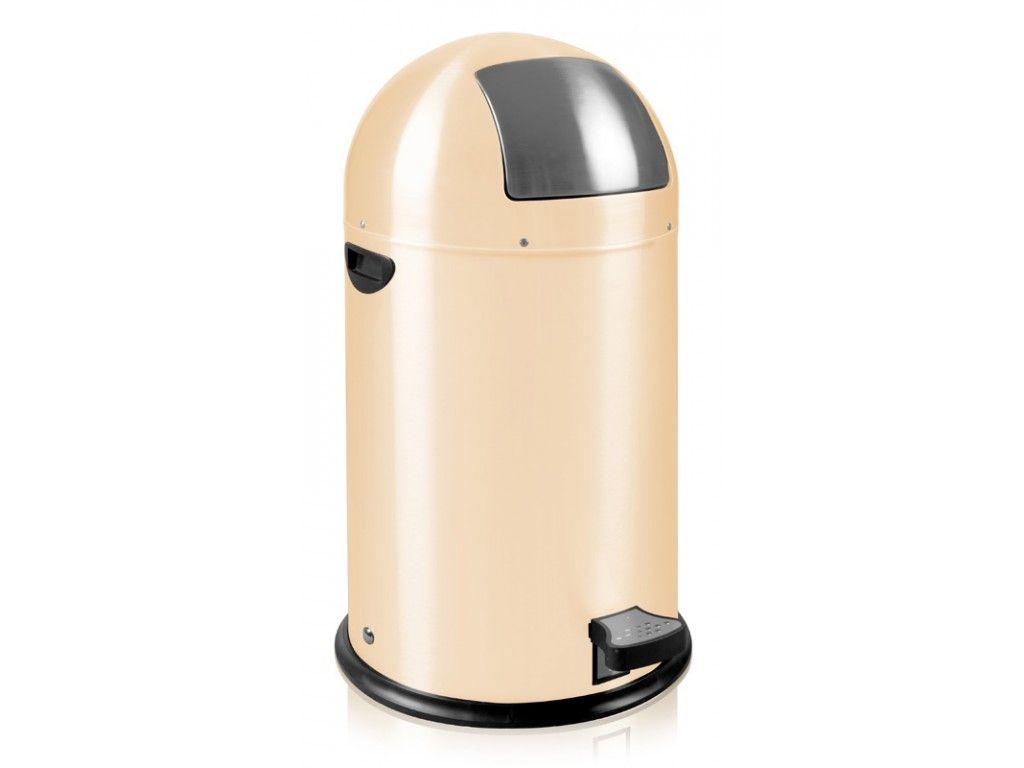 Eko Kickcan 33 Liter Rood.Eko Kickcan Pedaalemmer 33 Liter Creme