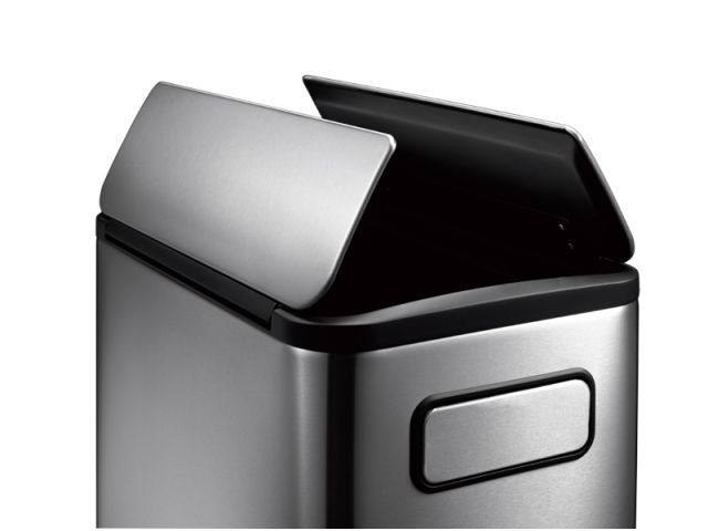 Eko Pedaalemmer 20 Liter.Eko Pedaalemmer Voor Afvalscheiding Ecofly Step Bin 2x 20 Liter Mat Rvs