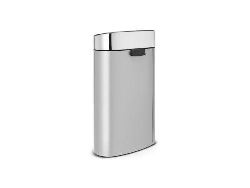 Brabantia Prullenbak Roze.Brabantia Touch Bin New 40 Liter Grijs Metallic Rvs