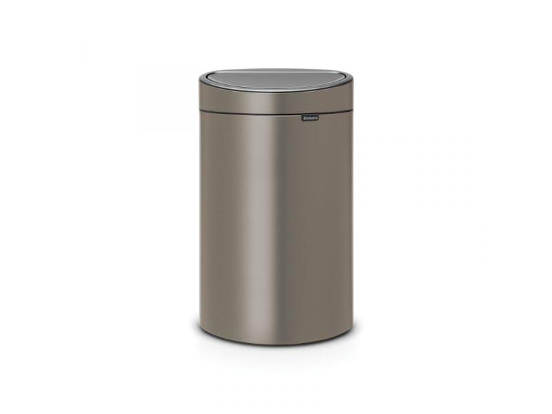 Afvalbak Touch Bin.Brabantia Afvalbak Touch Bin New 40 Liter Platina