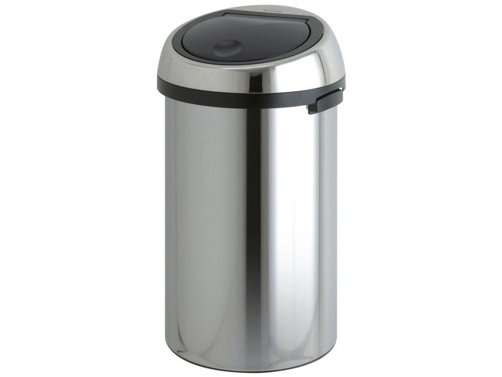 Afvalbak Touch Bin.Vepa Bins Ronde Afvalbak Touch Bin 50 Liter Rvs