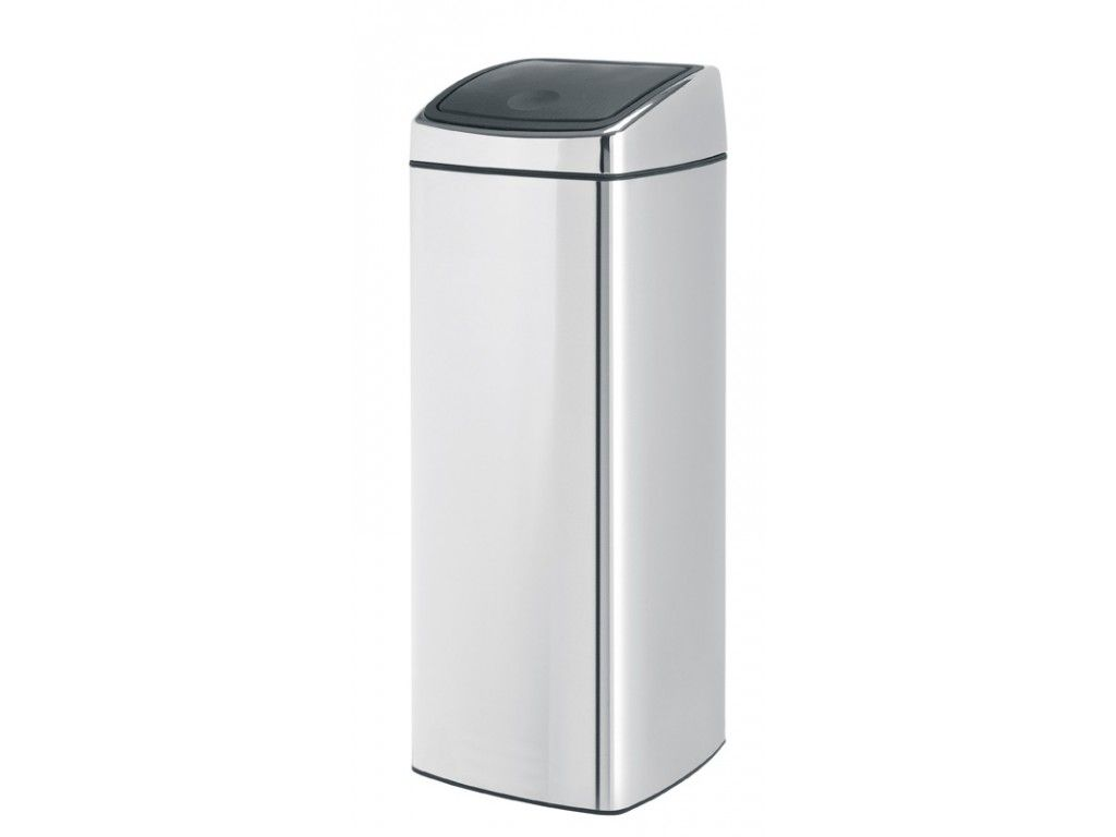 brabantia vierkante afvalbak touch bin 25 liter rvs. Black Bedroom Furniture Sets. Home Design Ideas