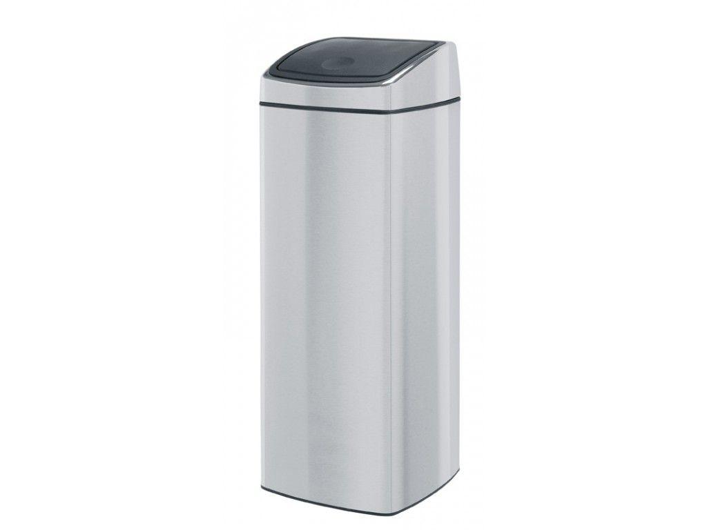 Afvalbak Touch Bin.Vepa Bins Vierkante Afvalbak Touch Bin 25 Liter Mat Rvs Fpp