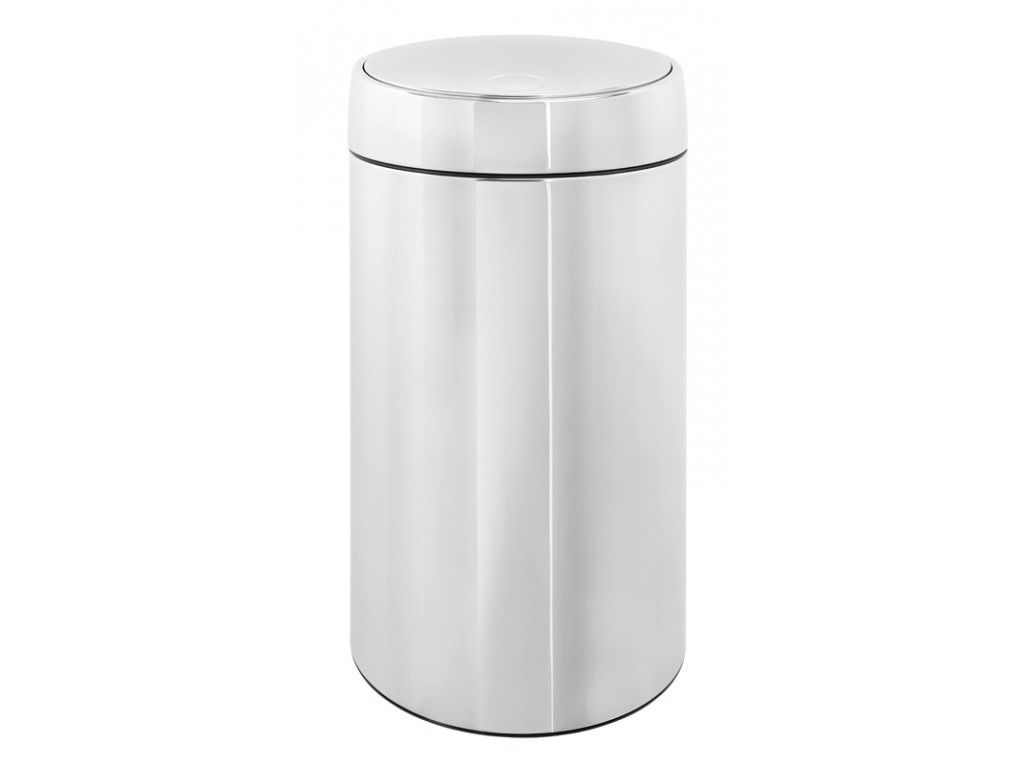 brabantia ronde afvalbak slide bin de luxe 45 liter rvs. Black Bedroom Furniture Sets. Home Design Ideas