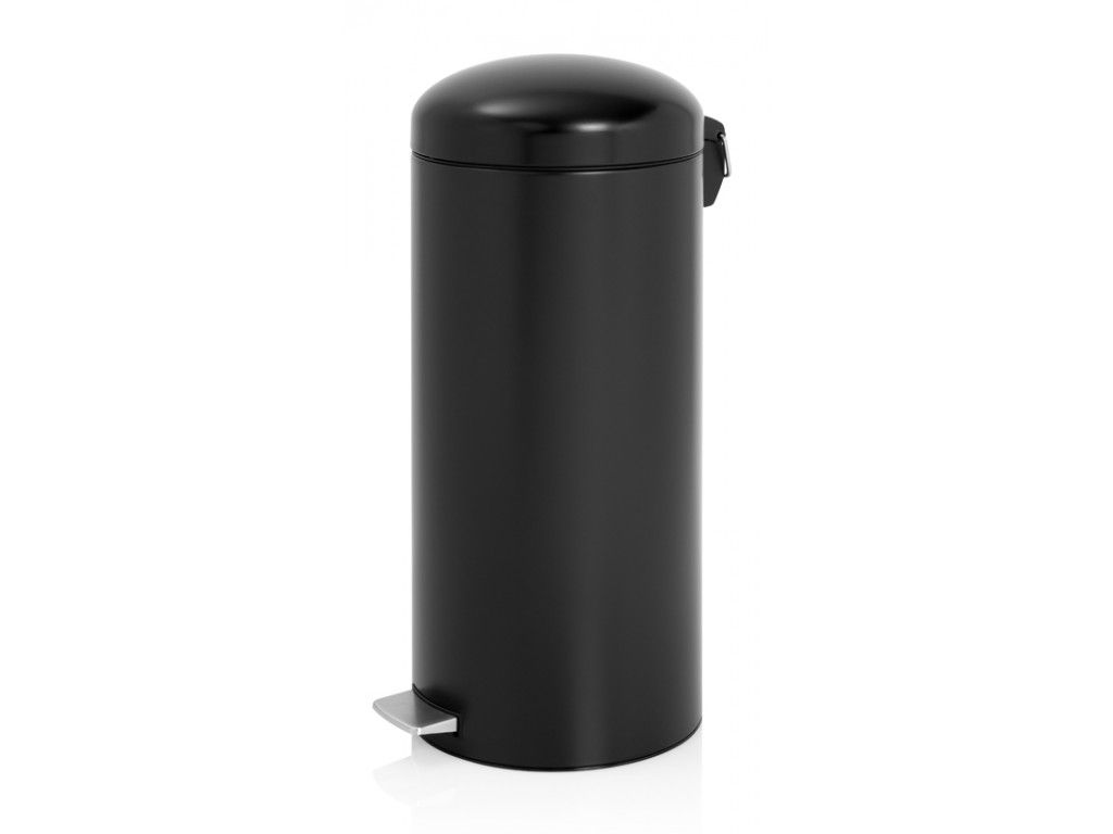 Brabantia Pedaalemmer Retro Bin.Brabantia Pedaalemmer Retro 30 Liter Mat Zwart