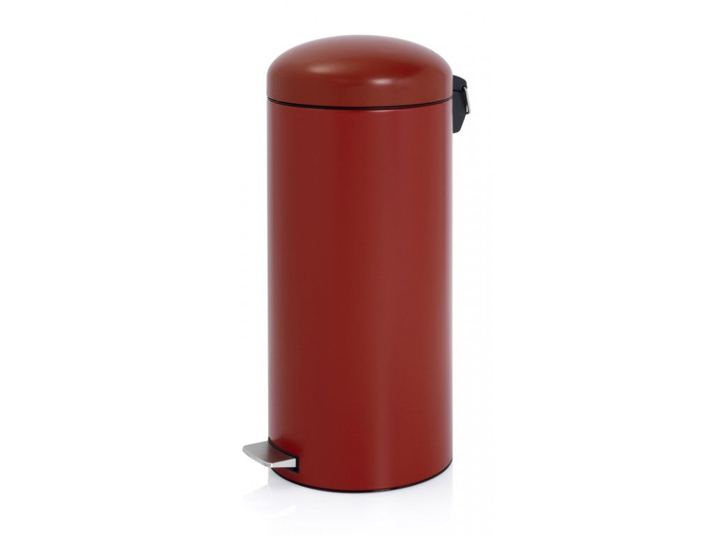 Brabantia Pedaalemmer Rood.Brabantia Pedaalemmer Retro 30 Liter Diep Rood