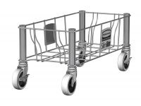 Slim Jim enkelvoudige RVS dolly, Rubbermaid