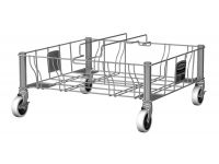 Slim Jim dubbele RVS dolly, Rubbermaid
