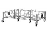 Slim Jim driedubbele RVS dolly, Rubbermaid