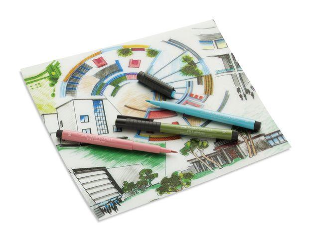 Pitt Artist Pens Set Of 6 Brush Tips-Shades Of Grey 167104BC Faber-Castell