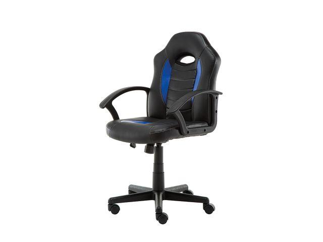 Bureaustoel Blauw Zwart.Kangaro Bureaustoel Zwart Blauw