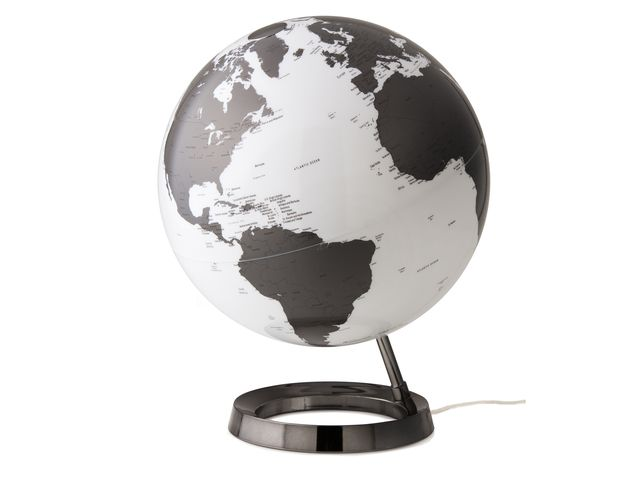 Atmosphere Globe Bright Charcoal Diameter30Cm Kunststof Voet Met ...