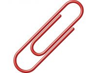 paperclips Alco 26mm rond doos a 100 stuks rood