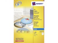 Cd Etiket Avery 117mm Fullsize Wit 100 Vel