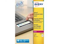 Laseretiket Avery 63.5x33.9mm Wit 20 Vel