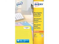 Laseretiket Avery 46x11.1mm Wit 100 Vel