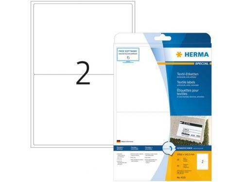 OUTLET Herma Textiel Etiket 4519 199.6x143.5mm Wit