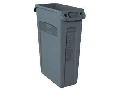 OUTLET OP=OP Afvalcontainer Slim Jim Grijs 87 Liter