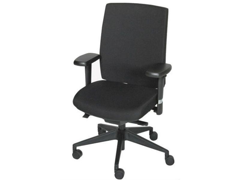 Bureaustoel Stof Zwart.Schaffenburg Bureaustoel 450 Npr Zwart Onderstel Zitting En Rug Stof