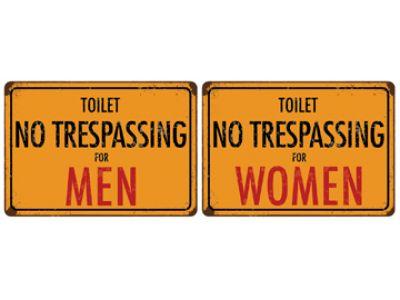 Office deco transfer xs toilet trespassing - Deco in het toilet ...