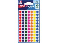Etiket Assorti Rond Ø8mm 385ST