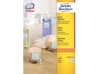 Avery Ronde Etiketten Diameter 40mm, wit, 2.400 Stuks
