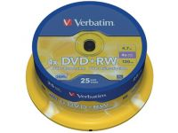 DVD rewritable DVD+RW, 4.7GB 4X spindel van 25 stuks