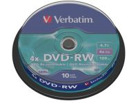 DVD rewritable DVD-RW, 4.7GB 4X spindel van 10 stuks