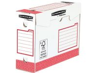 Bankers Box Basic Archiefdoos Heavy Duty, Ft 9,5 X 24,5 X 33 Cm, Rood