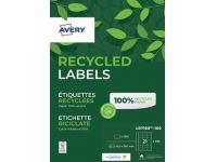 Etiket Avery Lr 7160-100 63.5x38.1mm 2100st Recycled
