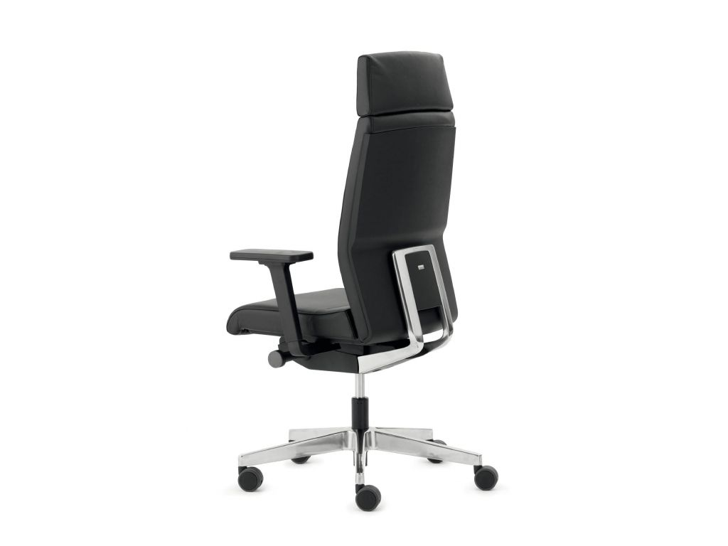 Interstuhl bureaustoel yos enjoy de luxe y rundnappa leder zwart