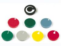 Lid For 10mm Button (black - White Line)