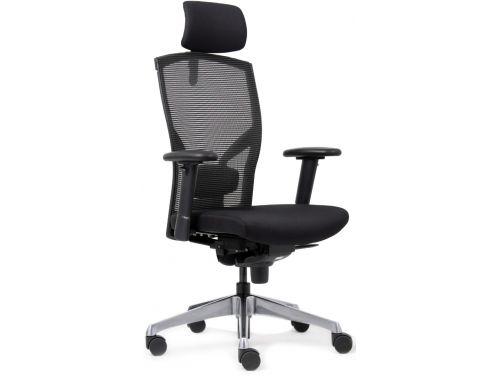 Bureaustoel Met Hoofdsteun.Bureaustoel Met Hoofdsteun Ergonomica Leder Zwart