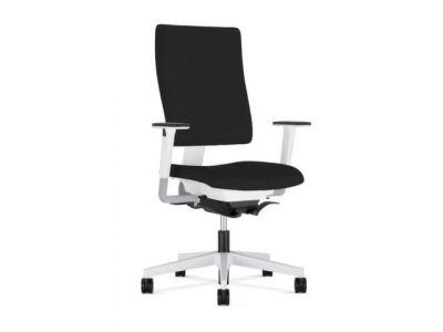 Nowy styl bureaustoel zwart frame wit synchroonmechanisme met