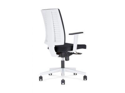 Bureaustoel De Wit.Nowy Styl Bureaustoel Wit Bekleding Zwart Zitting Hxbxd 410
