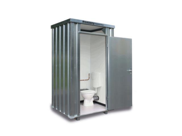 Mobiele toiletcabine verzinkt 2425 x 1250 x 1400 mm wc wasbak
