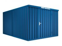 materiaalcontainer 2modules HxBxD 2160x3020x4340mm afwerking RAL1003