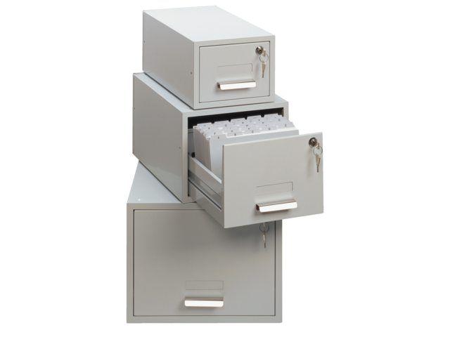Durable kaartenbak a5061 812 metaal 20x26cm lichtgrijs for Kantoor opbergers