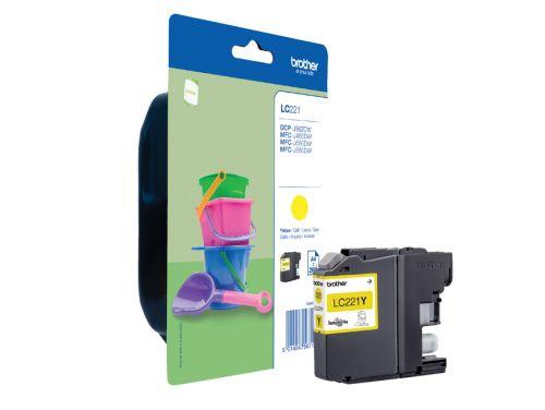 Inkcartridge Brother LC-221 geel