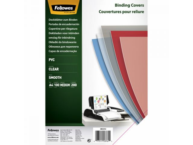 Voorblad Fellowes A4 Pvc 200 Micron