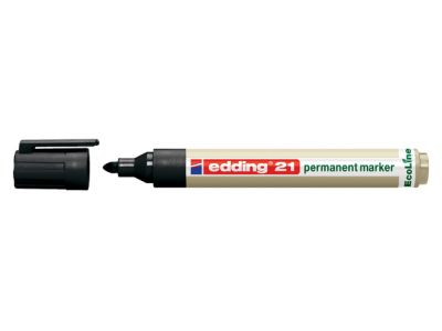 Viltstift edding 21 Eco rond zwart 1.5-3mm