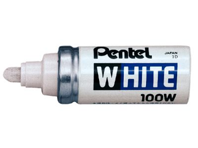 Viltstift Pentel 100W lakmarker rond wit 4mm