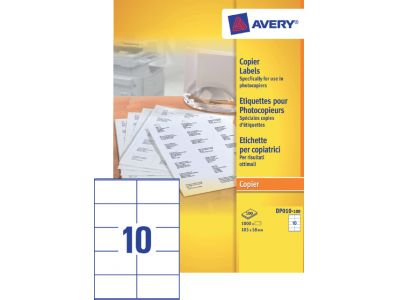 Etiket Avery DP010-100 105x58mm kopieren wit 1000Stuks