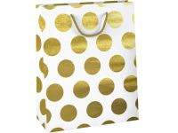 Cadeautas Design Group golden dots kraft 26x12cm